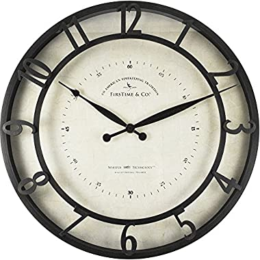FirsTime 18 in. Round Kensington Whisper Wall Clock