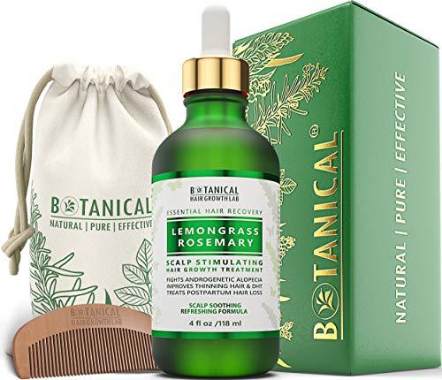 Anti Hair Loss Scalp Treatment Alopecia Postpartum DHT Blocker Lemongrass - Rosemary Hair Growth...