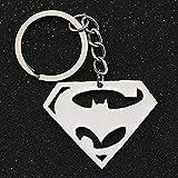 YclRpro Batman V Superman Dawn of Justice Llavero Logotipo de superhéroe Llavero Llavero Anillo DC Comics Película Joyería al por Mayor
