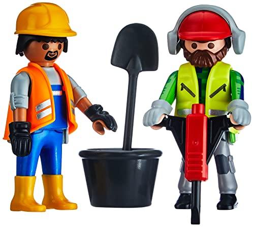 PLAYMOBIL DuoPacks 70272 Zwei Bauarbeiter, ab 4 Jahren