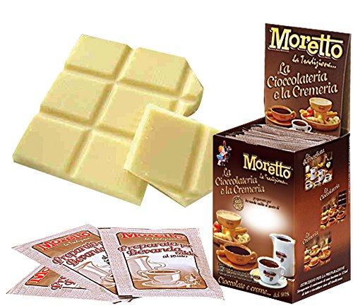 Cioccolata calda in tazza - MORETTO - gusto CIOCCOLATO BIANCO - 1 scatola con 12 bustine