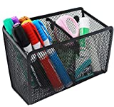 Snow Cooler Magnetic Pencil Holder - 2 Generous Compartments Magnetic Storage Basket Organizer - Extra Strong Magnets - Perfect Mesh Pen Holder to Hold Whiteboard, Locker Accessories