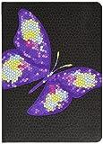 Letts 16-030144P Schülerkalender 12 Monate A6 Tattoo, 1 Wochen auf 2 Seiten, 2015-2016, butterfly