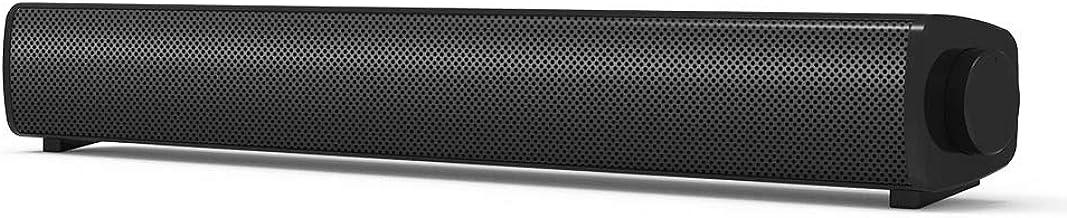 Desktop Computer Speaker, Wired Computer Sound Bar, Stereo USB Powered Mini Soundbar Speakers for PC Cellphone Tablets Des...