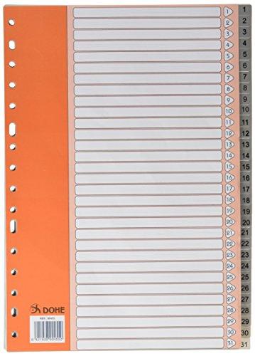 DOHE Basic - Índice folio, 1 al 31, color gris