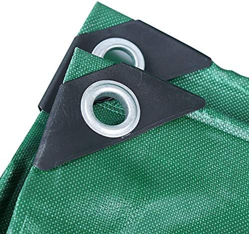 Rabbfay - Lona impermeable para uso intensivo con ojales resistentes al desgarro, para plantas de jardinería, lonas de 7 x 8 m, 9,6 x 19,2 pies/3 x 6 m