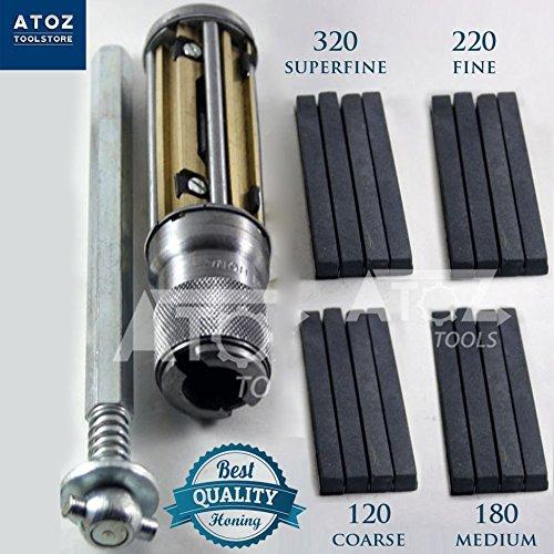 ATOZ Engine Cylinder Hone Kit HONING MACHINE + 4 set Honing Stones (2.1/2'-5.1/2' + 4 set stones)