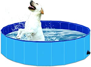BMLEI oldable Dog Pet Bath Pool Collapsible Dog Pet Pool Bathing Tub Kiddie Pool for Dogs Cats and Kids