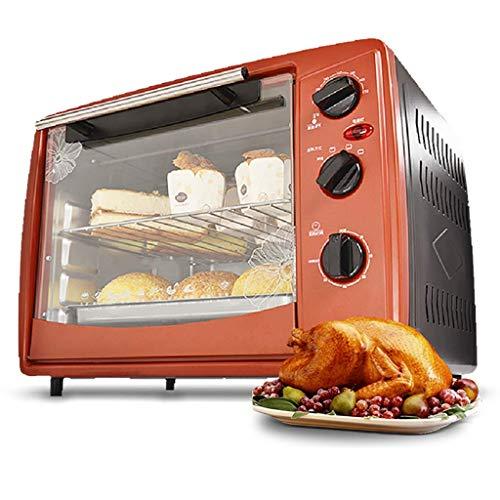NLRHH 30L Mini Ofen Grill Herd mit 3 Kochfunktionen, Einstellbarer Temperaturregelung und Timer, Rotary-Panel □ 1500w Peng