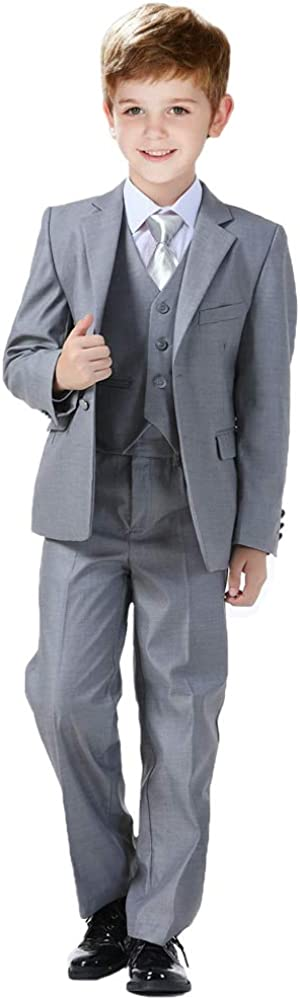 Plsily Boys Suits Toddler Foraml Kids Complete Wedding Outfit Dresswear