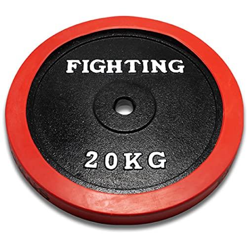 プレート ラバータイプ 20kg バーベル ダンベル 兼用 筋トレ ウエイトトレーニング トレーニング器具 ファイティングロード 宅トレ