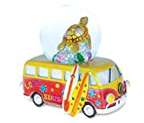 Puzzled Resin Van Sea Turtle Snow Globe (65mm), 4.5 Inch Tall Figurine Intricate & Meticulous Detailing Art Handcrafted Tabletop Sculpture Miniature Centerpiece Accent Ocean Sea Life Themed Home Décor