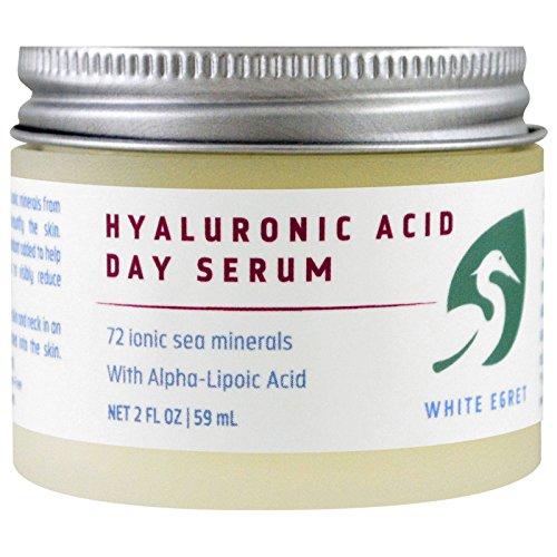 White Egret Acide Hyaluronique Jour Sérum, 2 fl oz (59 ml) - Soins personnels