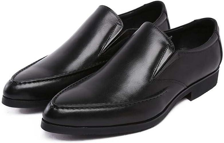 GLSHI Les Chaussures Simples D'hommes de Pied de Version européenne et Américaine de Chaussures de Mariage de Confort Portent des Chaussures de Travail
