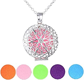 Winsome Faire Essential Oil Diffuser Necklaces - Essential Oil - 5 Changeable Color Pads