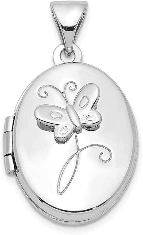 Ryan Jonathan Fine Jewelry Sterling Genuine Free Shipping 17x14mm Loc Silver Butterfly Special price for a limited time