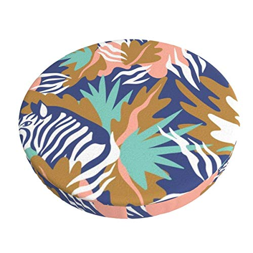 Round Bar Stools Cover,Tropisches Zebra,Stretch Chair Seat Bar Stool Cover Seat Cushion Slipcovers Chair Cushion Cover Round Lift Chair Stool