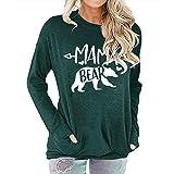 HOSD del Mangas de de suéter largas Personalizada Las Impresión la señoras de Las Moda
