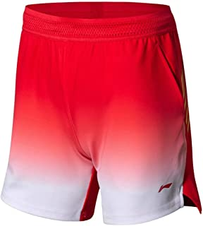LI-NING Women Badminton Competition Shorts Breathable National Team Lining Quick Dry Sports Shorts AAPN006
