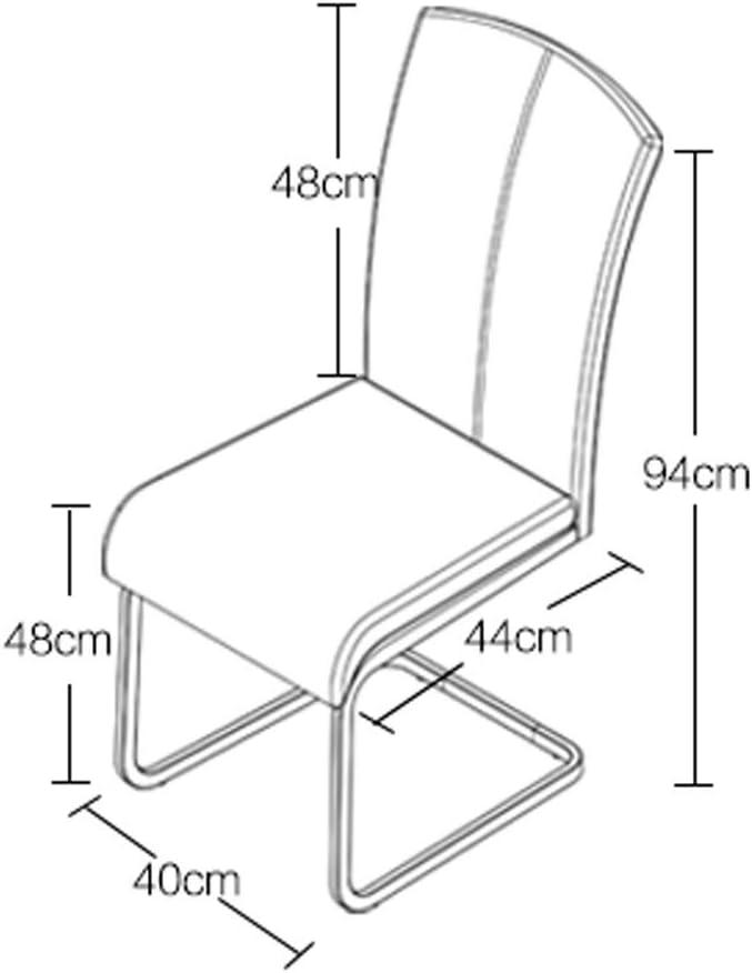 LF Chaise de Salle, Chaise de Bureau Simple, créative Dossier, Chaise Loisirs, Maison Adulte Chaise de Salle Simple (Color : Black) Khaki