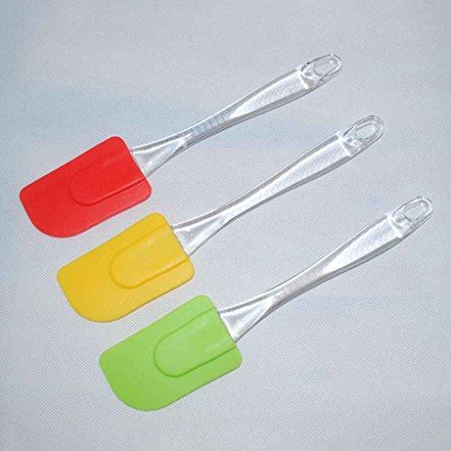 Sunlera Resistenza Alte Temperature Spatola in Silicone per Uso Alimentare Raschietto per Dolci in Cottura (No.1, Colore Casuale)