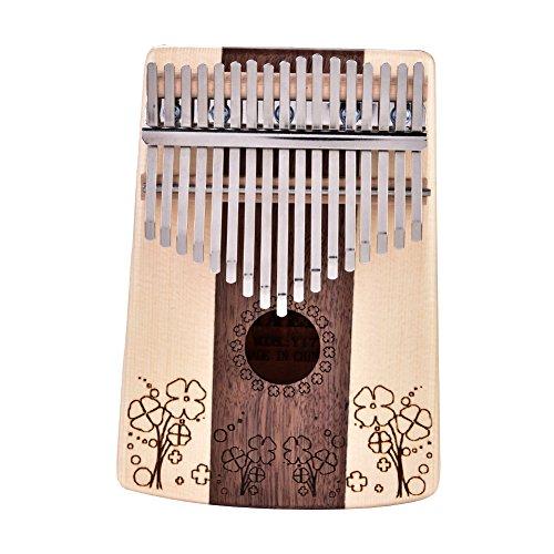 Kit de bolsa de herramientas de afinación Kalimba de 17 teclas, acompañamiento de instrumentos musicales de piano de pulgar para regalo musical