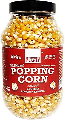 POPCORN PLANET Popcorn Kernels l 1 Litre Jar Gourmet Popping Corn l...