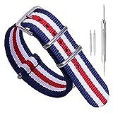 de una Sola Pieza Correas de Reloj de Estilo de la NATO perlón Nylon exquisitos de Las Mujeres 14mm Correas Textiles