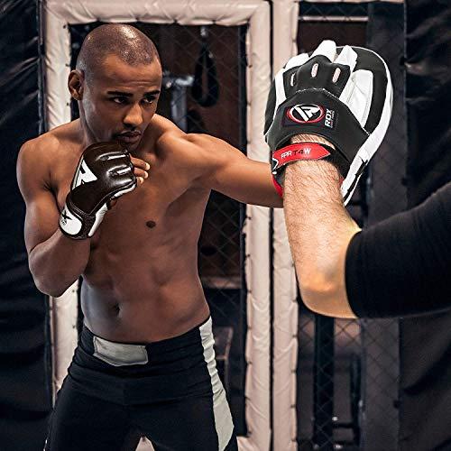 RDX Rindsleder MMA Handschuhe UFC Kampfsport Sparring Freefight Sandsack Trainingshandschuhe Abbildung 2