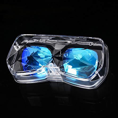 車載サングラスホルダー 車用眼鏡ケース メガネボックス 車用メガ収納 サングラスホルダー 大きいサングラス収納 サンバイザーケース カード入れボルダー YJH03 (透明)