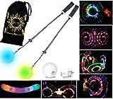LED Poi - Glow Poi - Slow Fade LED Glow Poi by Flames N Games +Travel Bag!
