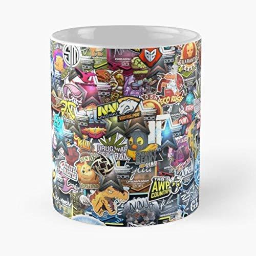Gaming Video Envyus Esport Csgo Navi Games Beaky Sneaky Nip beste Tasse hält Hand 313 ml aus Marmor-Keramik