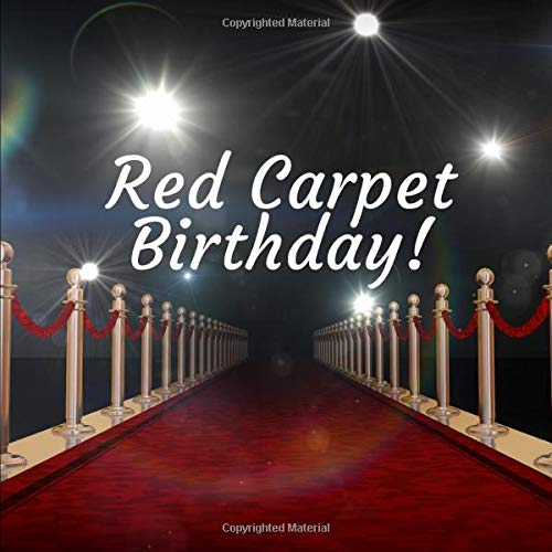 Red Carpet Birthday: Guestbook for Birthday Parties and Celebrations (300 Guests)