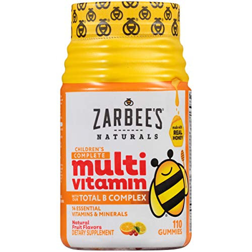 Zarbee's Naturals Children's Complete Multivitamin, Natural Fruit Flavors, 110 Gummies