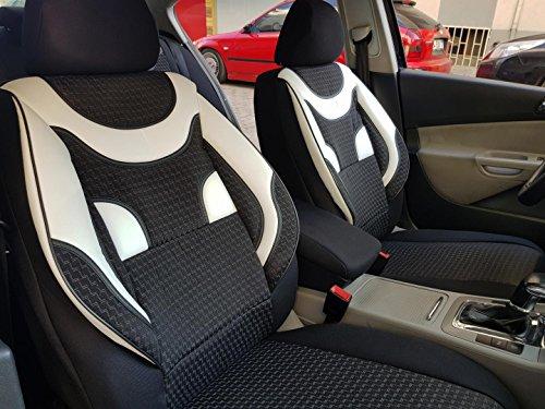 Sitzbezüge K-Maniac für Mazda CX-3   Universal schwarz-Weiss   Autositzbezüge Set Vordersitze   Autozubehör Innenraum   V433283   Kfz Tuning   Sitzbezug   Sitzschoner