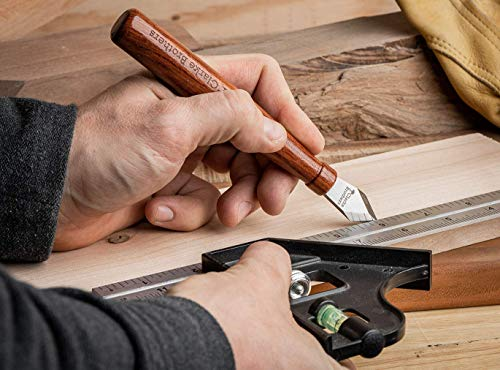 Clarke Brothers Marking Knife – Wood Marking Gauge – Premium Woodworking Tool with Double High Carbon Steel Blade – Top-Quality Design with Ultra-Sharp Blade – Beautiful Wooden Handle