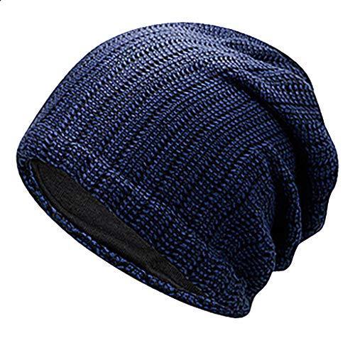 Rosennie Unisex Mütze Weiche Strickmütze,Frauen Männer Plaid Feinstrick Beanie Mütze Casual Outdoor Dicke Wintermütze aus Wolle für Damen & Herren