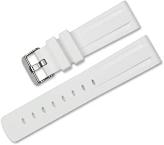 22mm Replacement Silicone Rubber Watch Band - White - Watch Strap