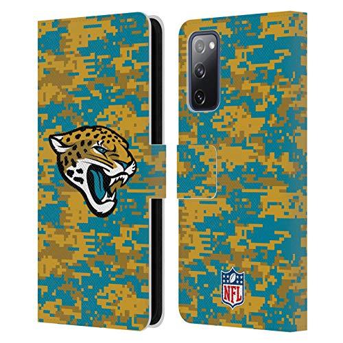 Head Case Designs Licenciado Oficialmente NFL Camuflaje Digital Jacksonville Jaguars Graphics Carcasa de Cuero Tipo Libro Compatible con Samsung Galaxy S20 FE / 5G