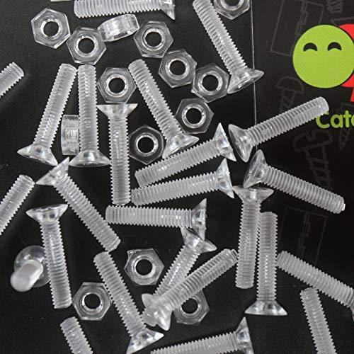 sourcingmap/® 12pcs 25mm T/ête remplacement /étoile Dia 6mm x 30mm vis serrage Poign/ée Bouton