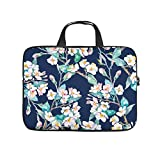 Cute Laptop Bag Flowers Bud 3D Notebook Sleeve Dust Proof Neoprene Laptop Bag Laptop Accessory White 17inch
