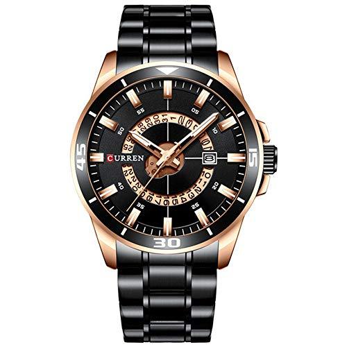 Reloj de Hombre Dial Azul Acero Inoxidable Relojes de Hombre Resistentes al Agua Relojes de Lujo de Negocios de Cuarzo analógico Relojes para Hombre Moda
