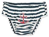 Playshoes Baby-Jungen UV-Schutz Windelhose Maritim zum Knöpfen Schwimmwindel, Blau (Marine/Weiß 171), 86 (Herstellergröße: 86/92)