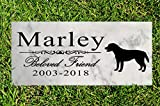 Broad Bay Dog Memorial Stone Personalized Marker Outdoor Garden Choose Your Breed Sign Stone Grave Headstone