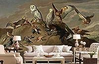 MAZF 3d部屋の壁紙カスタム壁画鳥王国古典的な油絵の壁を背景に壁の家の装飾の壁紙3d 208 cm(B)x 146 cm(H)