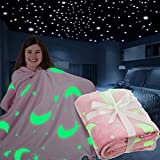 FiNeWaY Plaid en flanelle avec étoile de lune et licorne pour enfants filles garçons adultes chambre à coucher chaude super...