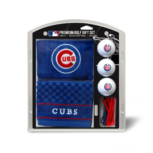 sports fan golf gift sets Team Golf MLB Chicago CubsEmbroidered Towel Gift Set