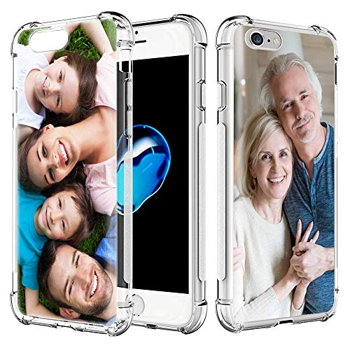 AIPNIS Funda personalizada para iPhone 6 Plus y 6S Plus, regalo de fotos personalizadas, absorción de golpes, TPU suave y transparente para diseñar tu propia imagen