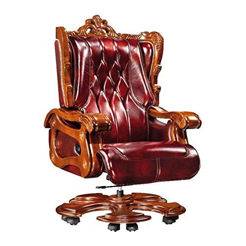 JJSFJH Presidente de Jefe, Presidente de la Oficina de Cuero Presidente de la Oficina reclinable Silla de computadora casero Silla ejecutiva sillón reclinable sillas directivas