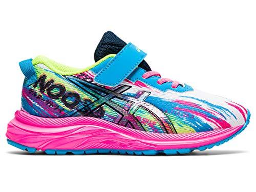 ASICS Kid's Pre Noosa Tri 13 PS Running Shoes, 1, Digital Aqua/HOT Pink